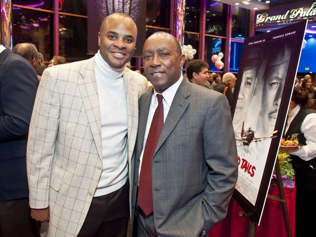 Rick Smith, left, and Sylvester Turner at Red Tails. Photo by © Michelle Watson/CatchLightGroup.com