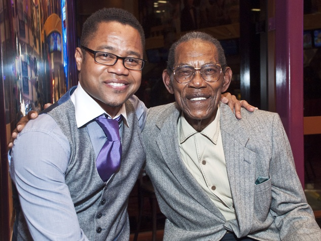 Cuba Gooding Jr., left, with Tuskegee Airman Clyde Alexander Sr. Photo by © Michelle Watson/CatchLightGroup.com
